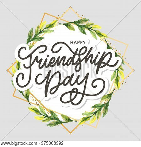 Friendship Day Vector Illustration With Text And Elements For Celebrating Friendship Day