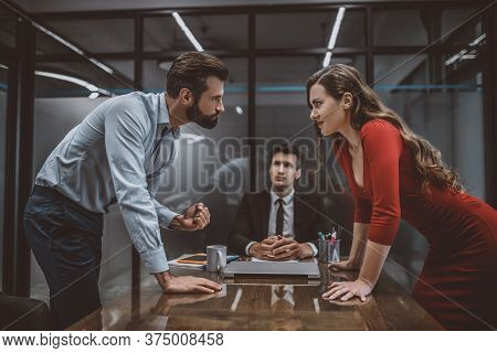 Couple Having An Argument In Lawyers Office