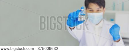 Banner Scientist Covid-19 Virus Chemistry  Research Experiment Biotech Sample Laboratory Cultivate V