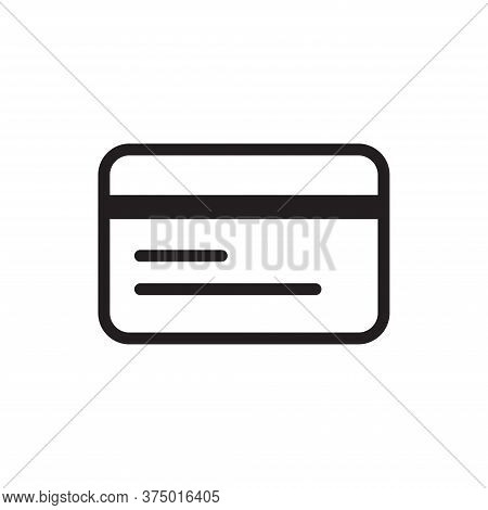 Credit Card Icon Isolated On White Background. Credit Card Icon In Trendy Design Style For Web Site