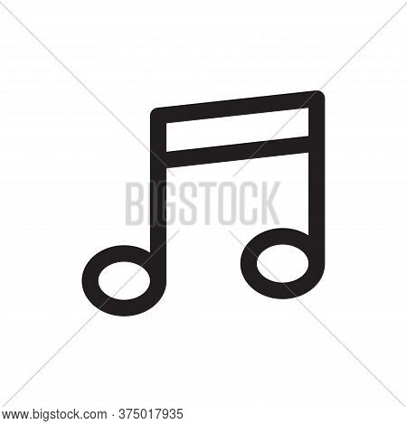 Music Note Icon Isolated On White Background. Music Note Icon In Trendy Design Style For Web Site An