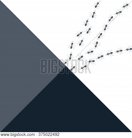 Colony Of Marching Ants On Abstract Background