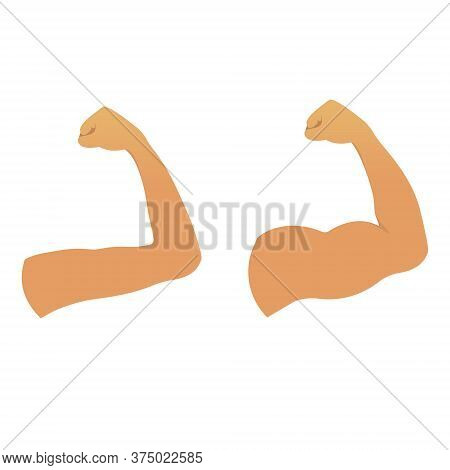 Strong Muscular Build Arm Versus Weak Arm