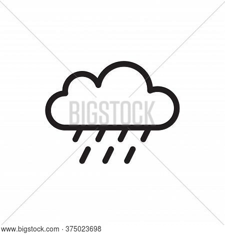 Rain Icon Isolated On White Background. Rain Icon In Trendy Design Style For Web Site And Mobile App