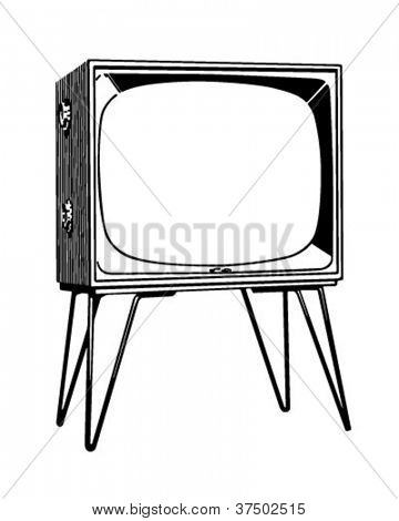 TV Set - Retro Clipart Illustration
