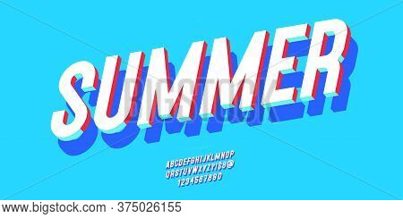 Summer Font 3d Bold Style Modern Typography For Decoration, Logo, Poster, T Shirt, Book, Card, Sale