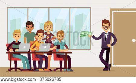 Team Found Investor. Businessman Invests Young Professionals. New Startup, Business Proposal Or Prof