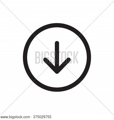Download Icon Isolated On White Background. Download Icon In Trendy Design Style For Web Site And Mo