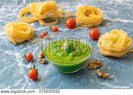 Italian Basil Sauce With Nuts And Olive Oil