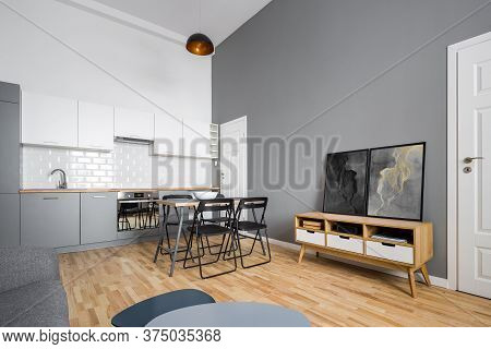 Kitchen With Simple Table