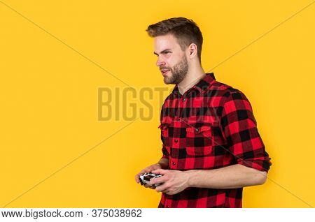 Amazing Technology. Video Game Console. Guy Playing On Console. Its My Hobby. Inveterate Gamer. Time