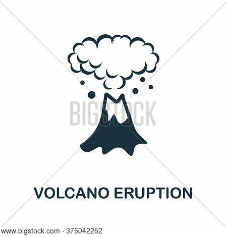 Volcano Eruption Icon. Simple Element From Global Warming Collection. Creative Volcano Eruption Icon