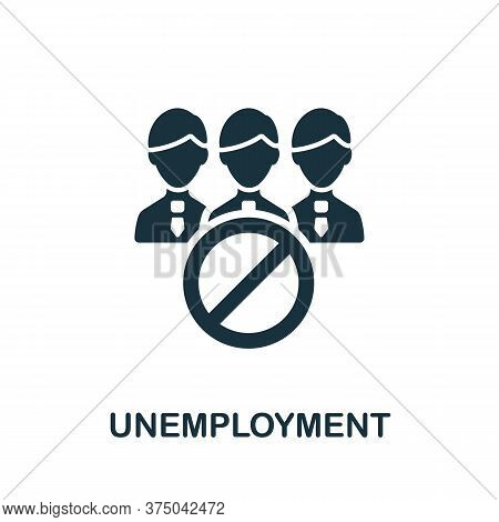 Unemployment Icon. Simple Element From Crisis Collection. Creative Unemployment Icon For Web Design,
