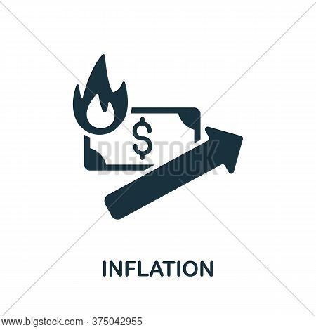 Inflation Icon. Simple Element From Crisis Collection. Creative Inflation Icon For Web Design, Templ
