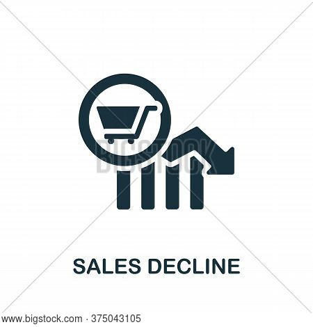 Sales Decline Icon. Simple Element From Crisis Collection. Creative Sales Decline Icon For Web Desig