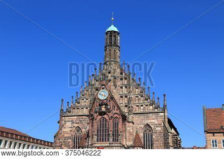 Nuremberg City, Germany. Frauenkirche (church Of Our Lady). German Landmark.