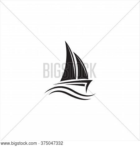 Boat Icon Isolated On White Background. Sail Boat Icon In Trendy Design Style For Web Site And Mobil