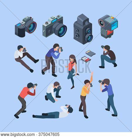 Photographers. Fashion Photo Shoot Cinema Camera Professional Digital People Artists Working Making
