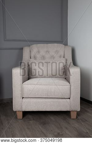 Gray Sofa In The Living Room, Modern Style