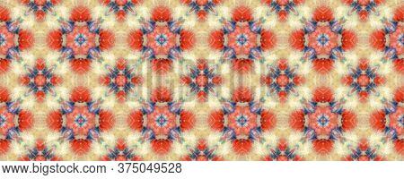 Majestic Floral Tile. Santorini Pattern Original. Rustic Floral Image. Colorful Seamless  Mexican Mo