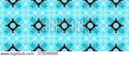 Original Tile Template.  Tile Japanese Geometric. Rustic Floral Image. Dark Seamless Majolica Tiles
