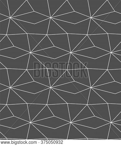 Repetitive Ramadan Graphic Web Design Pattern. Repeat Asian Vector, Polygon Repeat Texture. Seamless