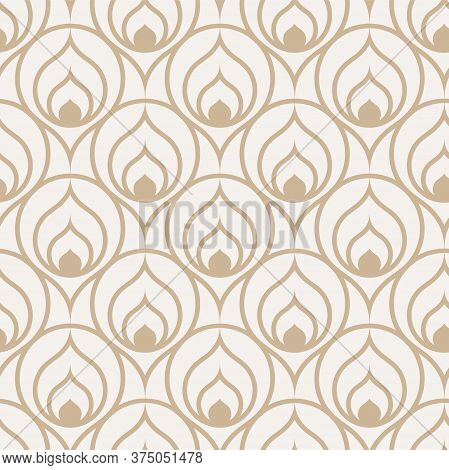 Continuous Ramadan Vector 1920s Deco Pattern. Seamless White Graphic Luxury Tile Texture. Repetitive