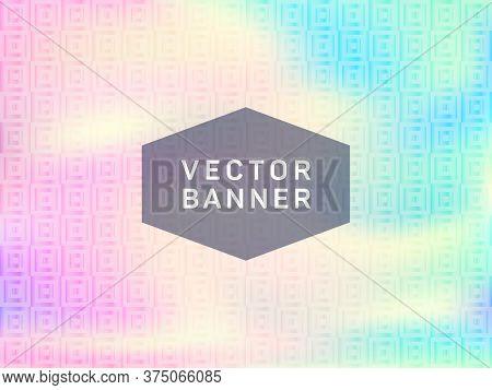 Elegant Presentation Holographic Gradient Vector Template. Liquid Abstract Blur Splashes Backdrop. T