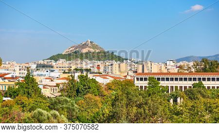 Athens city with Lycabettus hill, Greece - Panoramic cityscape