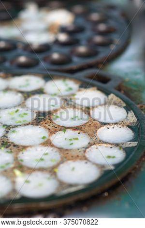 Coconut Milk Mix Sugar And Flour. - Kind Of Thai Sweetmeat.
