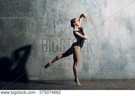 Modern Ballet, Great Design For Any Purposes. Ballet Dancer Ballerina. Balance Training. Classical C
