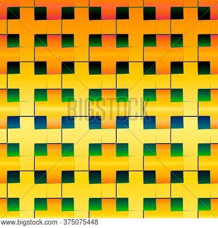 Vector Template In Rectangles And Squares. Rectangles And Squares With Colorful Gradient On The Abst