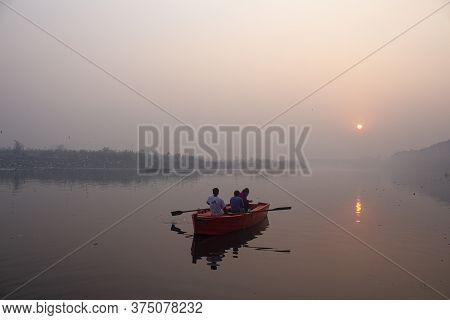 New Delhi, India - July 5 2018 : A Morning At Nigam Bodh Ghat Near Kashmiri Gate, New Delhi