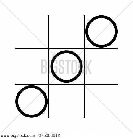 Game Icon. Tic Tac Toe Game With Cross And Circle. Tic Tac Toe