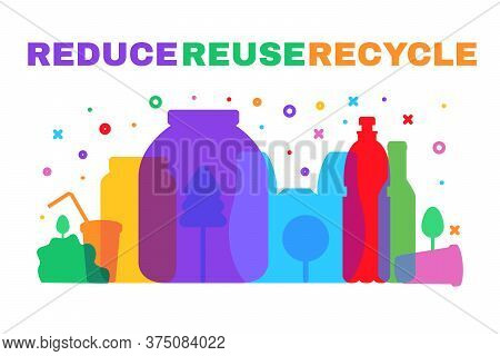 Plastic Waste Danger. Pollution And Eco Protection
