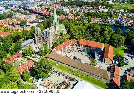 Nidaros Cathedral Or Nidarosdomen Or Nidaros Domkirke Is A Church Of Norway Cathedral Located In The