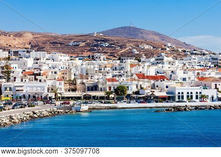 Tinos Island Aerial View. Tinos Is A Greek Island Situated In The Aegean Sea, Located In The Cyclade