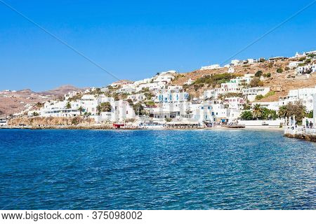 Old Port At The Mykonos City Harbour On The Mykonos Island, Cyclades In Greece