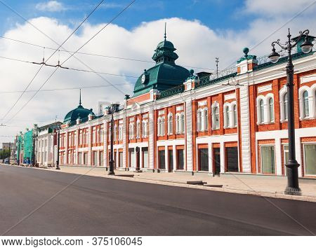 The Lenina Street In The Centre Of Omsk In Siberia, Russia