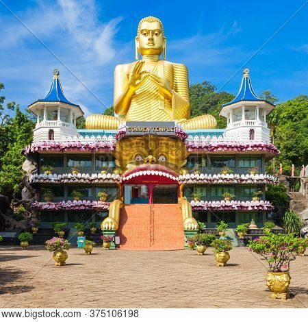 Golden Temple Of Dambulla Or Dambulla Cave Temple Is A World Heritage Site Near Dambulla, Sri Lanka