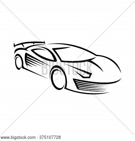 Car Icon, Car Icon Vector, Car Icon Object, Car Icon Image, Car Icon Picture, Car Icon Graphic, Car Icon Art, Car Icon Drawing, Abstract car vector logo. Car logo template. Auto car icon symbol. Linear silhouette logo design. Car vector EPS10