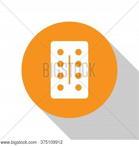 White Pills In Blister Pack Icon Isolated On White Background. Medical Drug Package For Tablet, Vita