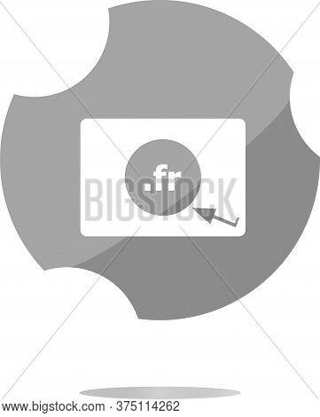 Domain Fr Sign Icon. Top-level Internet Domain Symbol