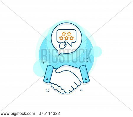 Click Rating Sign. Handshake Deal Complex Icon. Ranking Star Line Icon. Brand Ambassador Rank Symbol