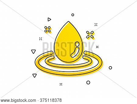 Petroleum Sign. Fuel Energy Icon. Diesel Drop Symbol. Yellow Circles Pattern. Classic Fuel Energy Ic
