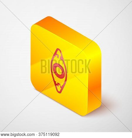 Isometric Line Kayak And Paddle Icon Isolated On Grey Background. Kayak And Canoe For Fishing And To