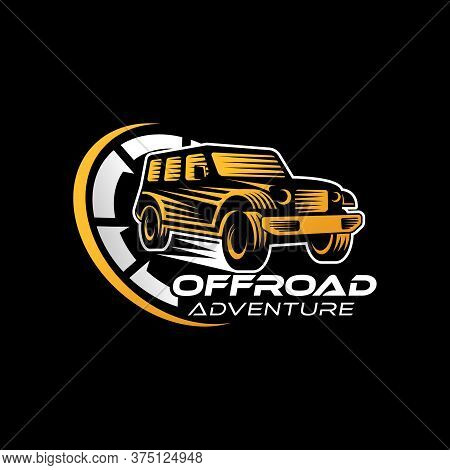 Car. Off-road Car logo vector. Car icon vector. Car icon. Auto Car logo. Car Vector. Car Logo. Offroad Car logo design. Off-road SUV Car vector. Offroad Car Logo icon. Car emblem logo. Offroad Car vector logo design template illustration.