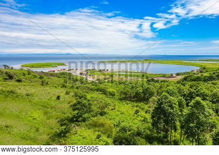 Russky Island Aerial Panoramic View. Russky Island Is An Island Off Vladivostok In Primorsky Krai, R