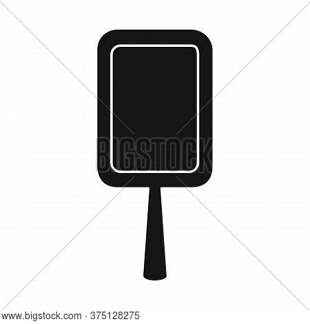 Isolated Object Of Mirror And Gold Logo. Graphic Of Mirror And Handle Vector Icon For Stock.