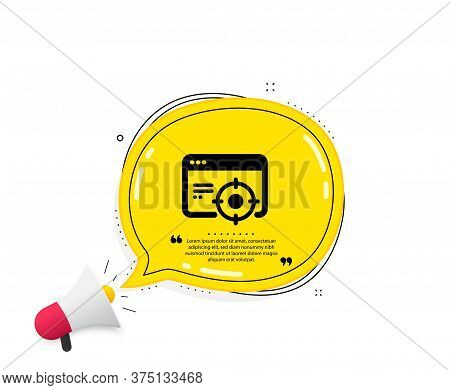 Seo Icon. Quote Speech Bubble. Web Targeting Sign. Traffic Management Symbol. Quotation Marks. Class